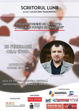 Scriitorul lunii februarie - Lucian Dan Teodorovici_ASJ